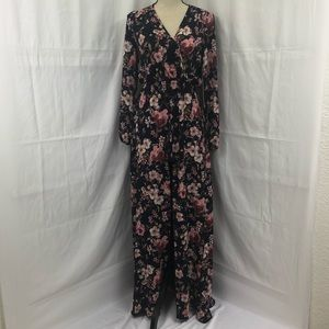 🆕Honey & Rosie Floral Vneck Romper Maxi Shorts 3